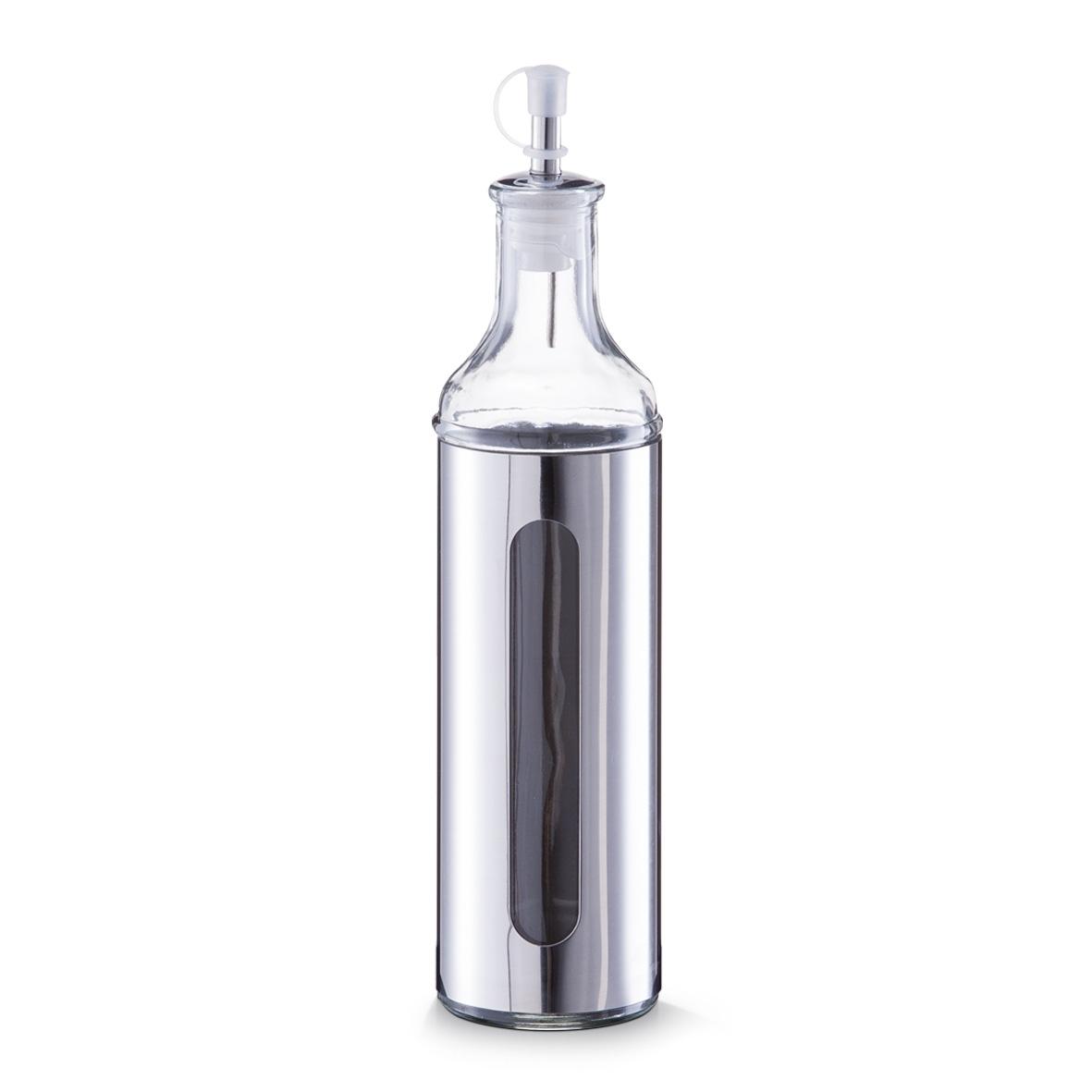 Sticla pentru ulei / otet Visual, inox si sticla, Silver 500 ml, Ø 6,5xH28 cm imagine