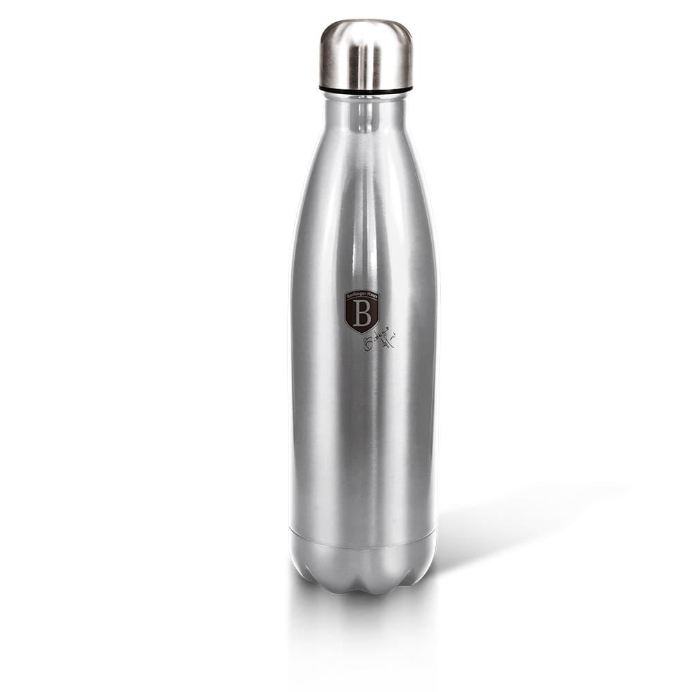 Sticla termos din otel inoxidabil 500 ml, Black Silver
