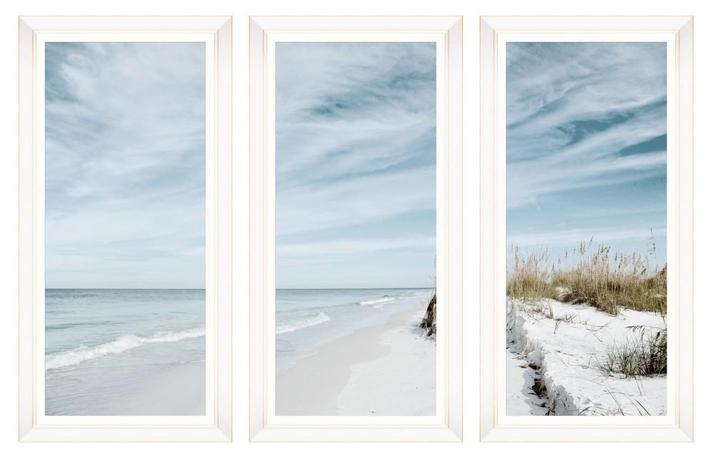 Tablou 3 piese Framed Art Summer Beach imagine