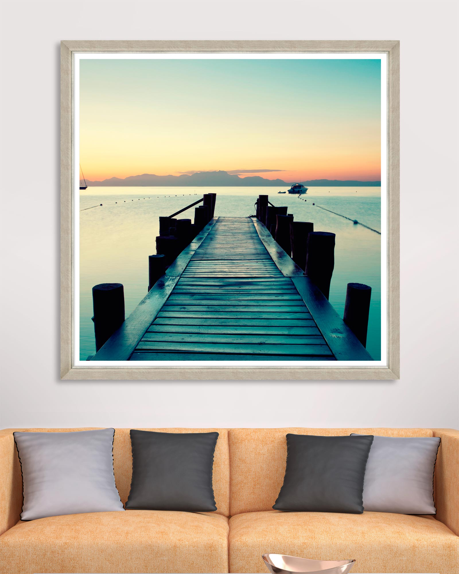 Tablou Framed Art Sunset Pier imagine