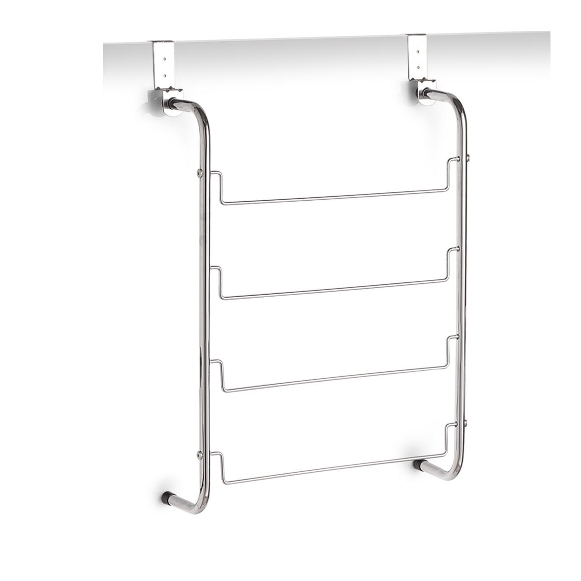 Suport de usa pentru prosoape, Metal cromat, l44xA12,5xH66,5 cm imagine