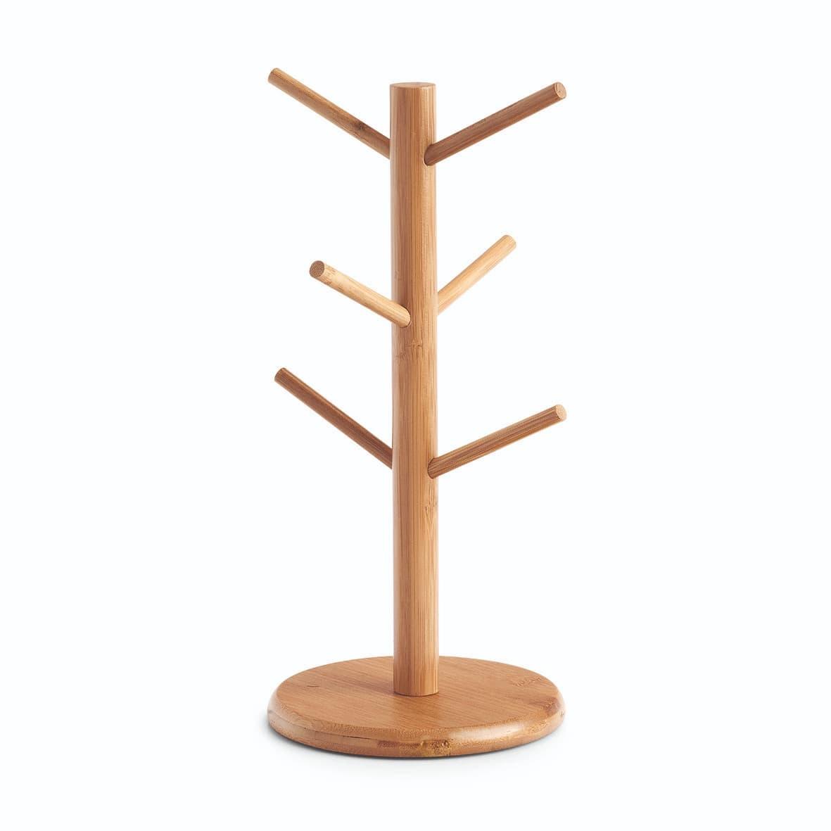 Suport din bambus pentru 6 cani, Bamboo Natural, Ø16xH34 cm somproduct.ro