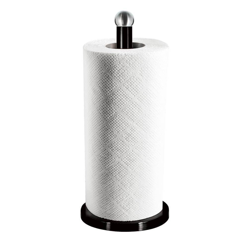 Suport din otel inoxidabil pentru role de bucatarie, Ø15xH34 cm, Black Silver