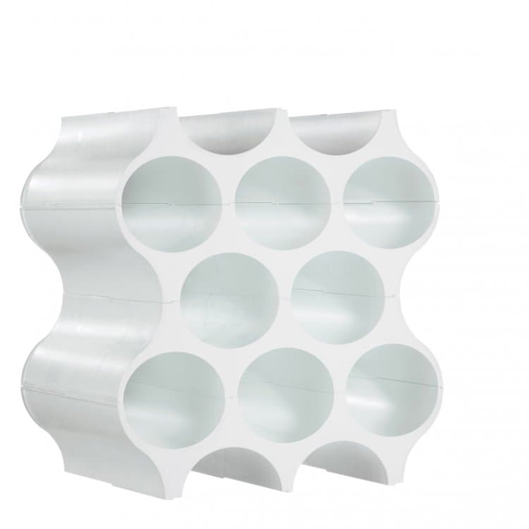Suport din termoplastic pentru 10 sticle Set-Up Cosmos Alb, l23xA35,3xH36,4 cm