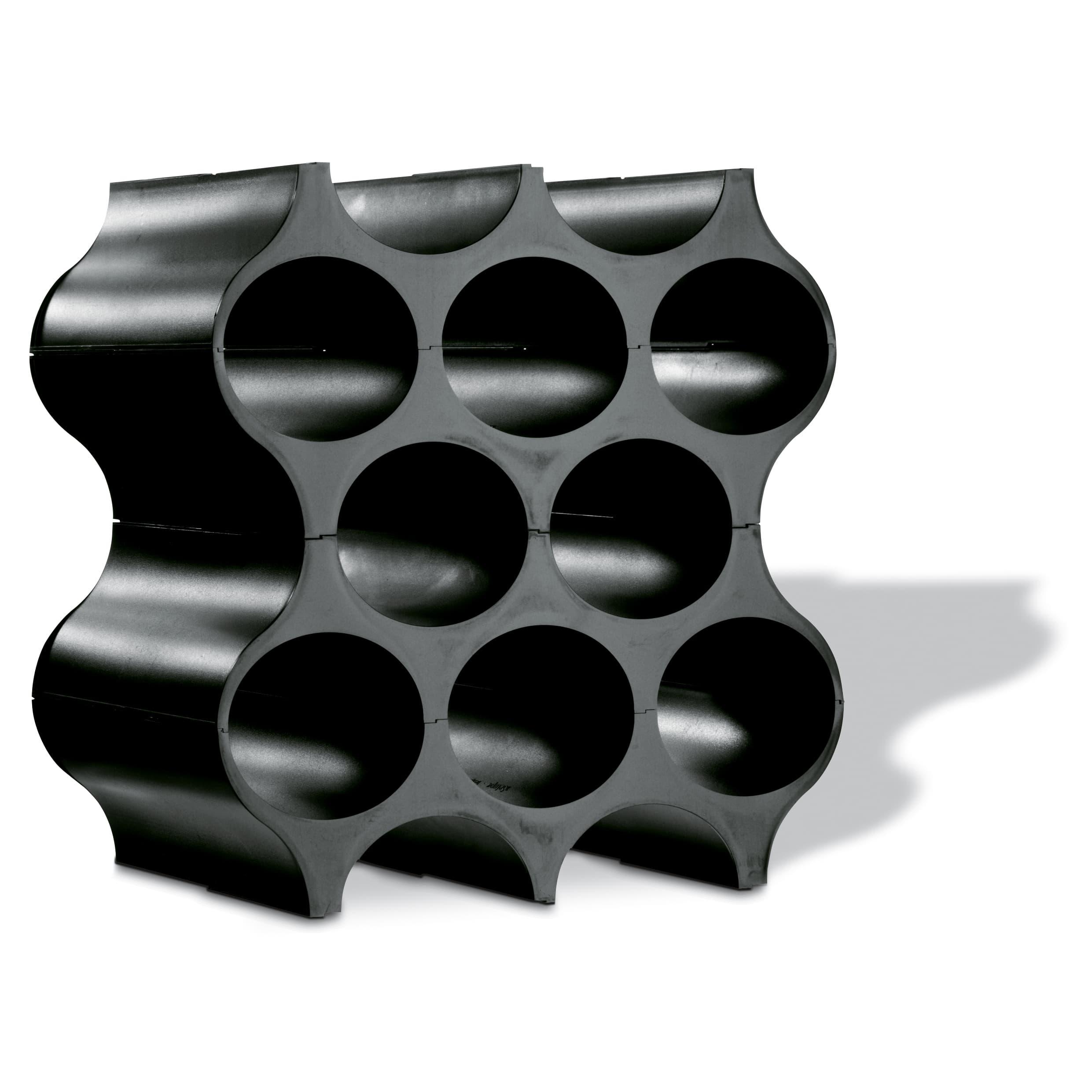Suport din termoplastic pentru 10 sticle Set-Up Cosmos Negru, l23xA35,3xH36,4 cm