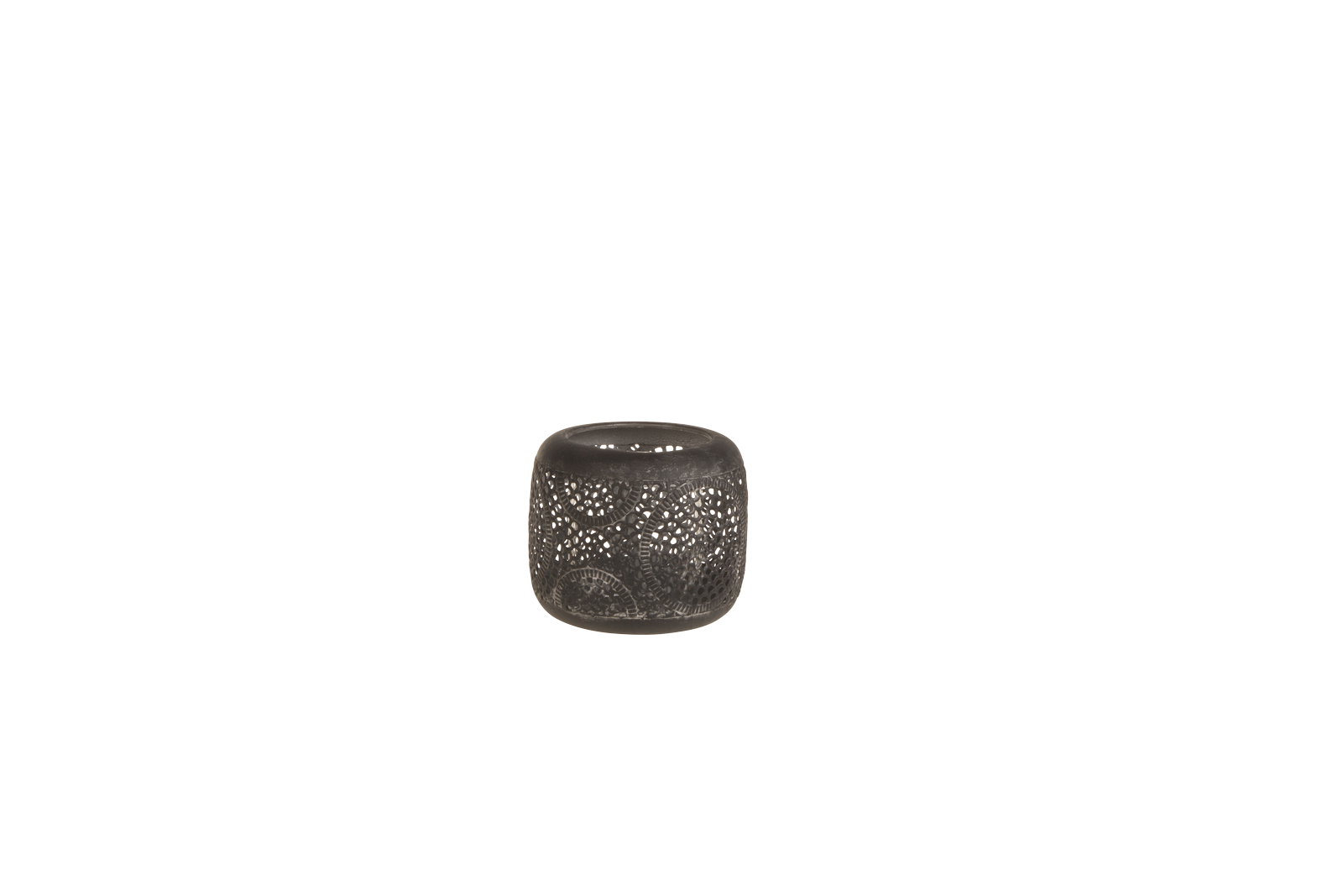 Suport lumanare Atmosphere Black O12xH10 cm
