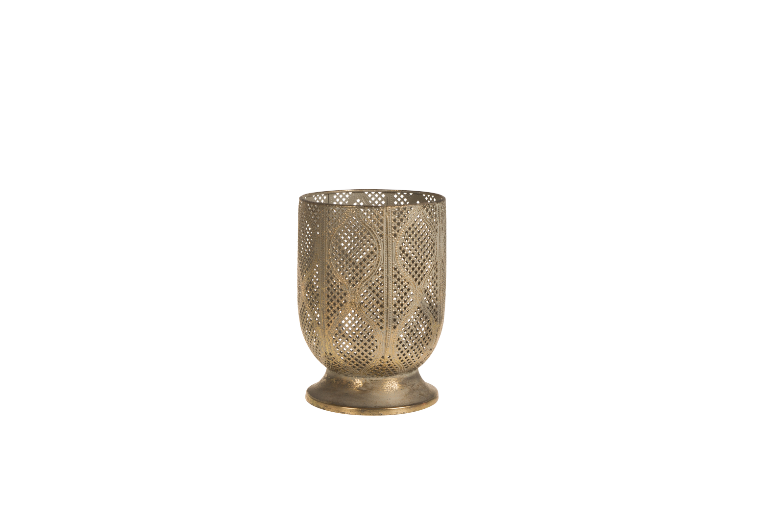 Suport lumanare Atmosphere Gold Antique O14xH21 cm