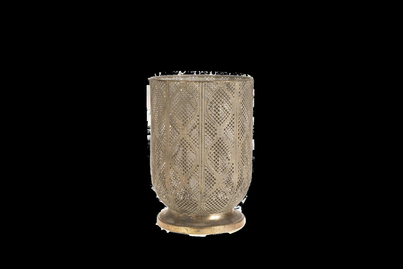 Suport lumanare Atmosphere Gold Antique O19xH28 cm