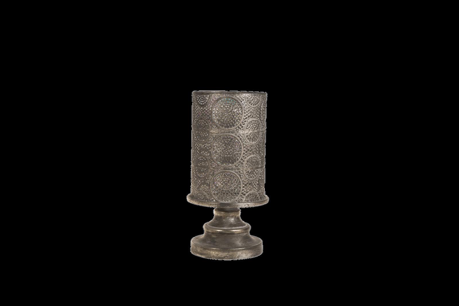 Suport lumanare Atmosphere SIlver Antique O175xH325 cm