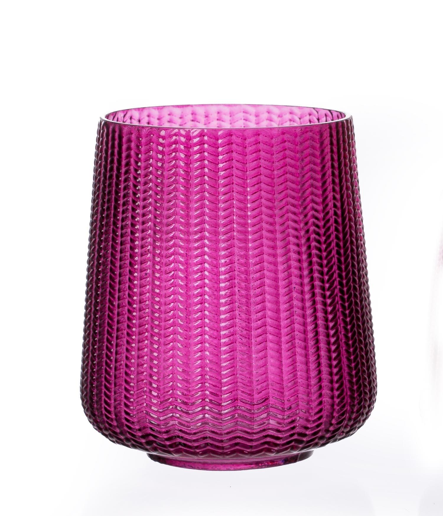 Suport lumanare Boa Huricane Berry Sticla O14xH17 cm