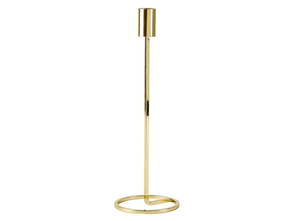 Suport lumanare din metal Dia Large 341083 Auriu, Ø10xH29 cm, Villa Collection