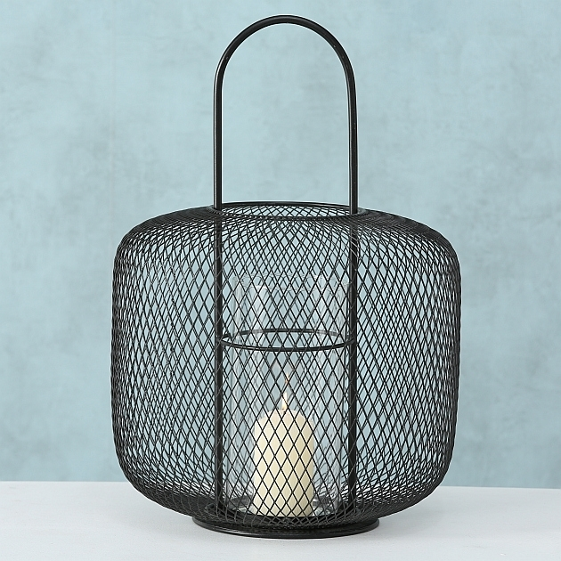 Suport lumanare din metal Cocoon Negru, Ø29xH42 cm imagine