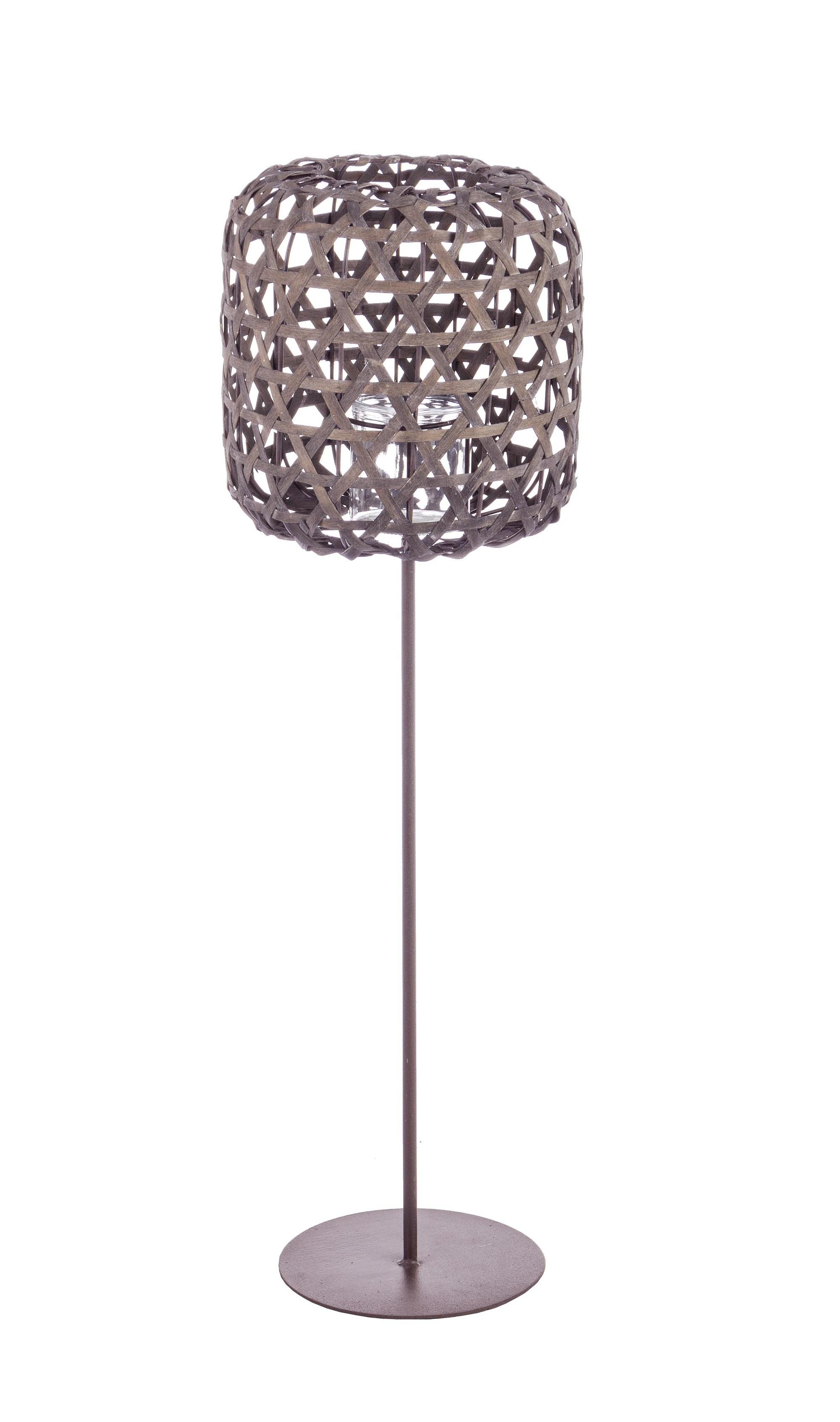Suport lumanare din metal Shade Tall Gri, l21xA23xH74 cm imagine