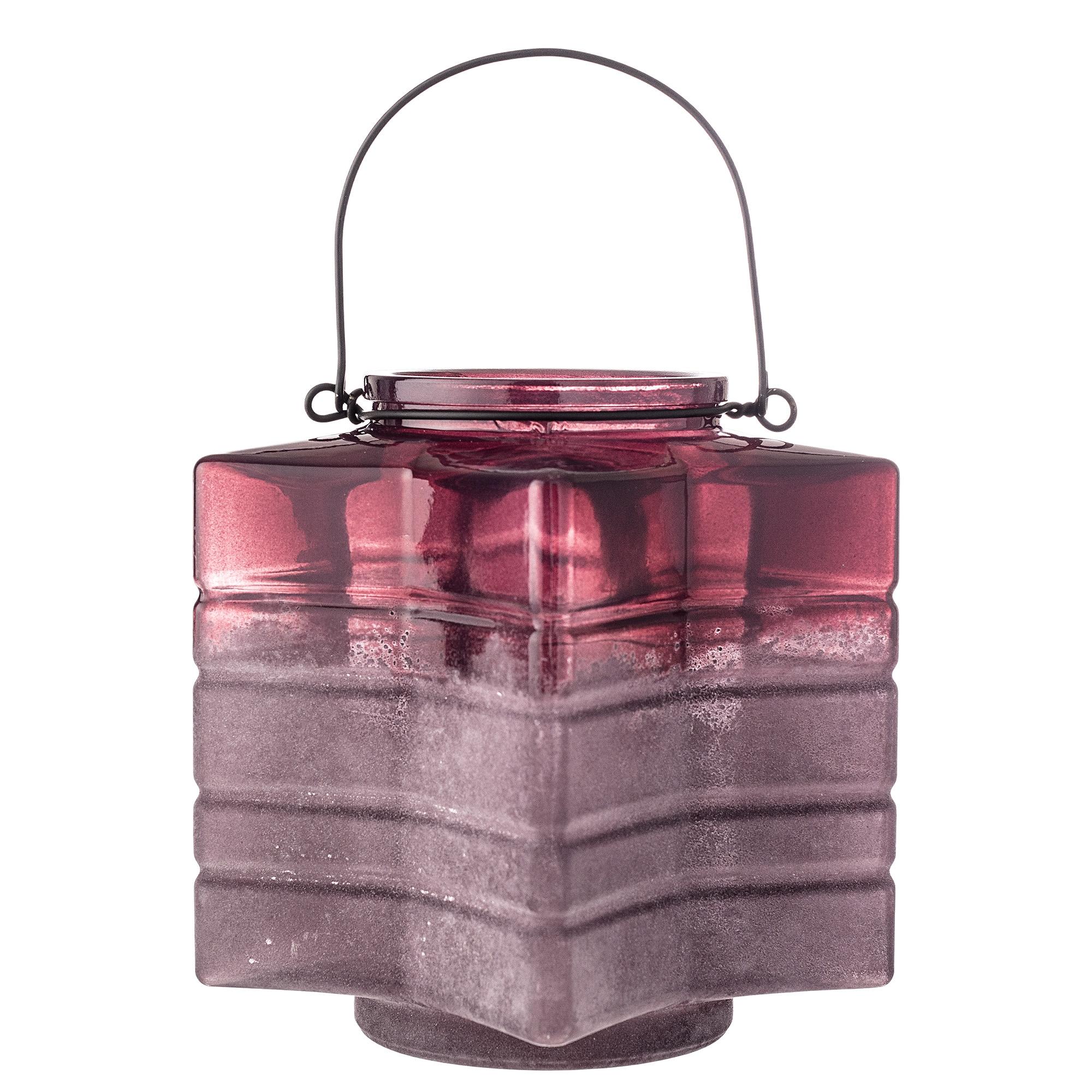 Suport lumanare din sticla Red, Ø18xH18 cm imagine