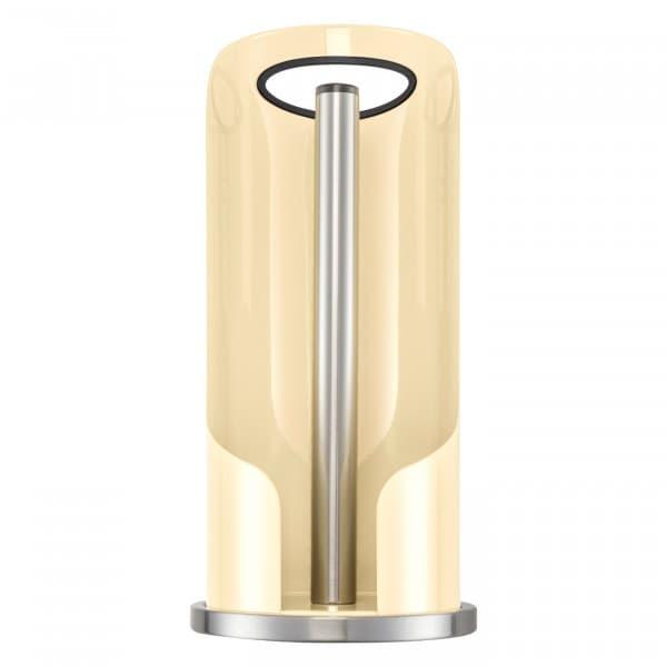 Suport metalic cu maner pentru role de bucatarie, Paper HolderCrem, Ø15,6xH35,2 cm poza