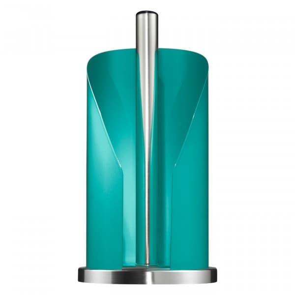 Suport metalic pentru role de bucatarie Paper Holder Turcoaz, Ø15,5xH30 cm imagine