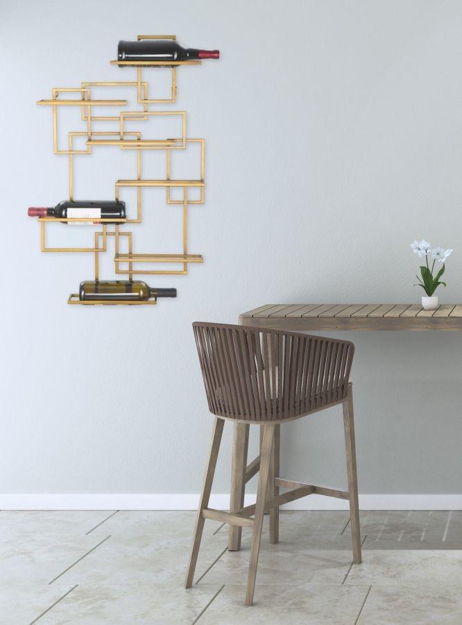 Suport Metalic Sticle Glam Vertical Auriu Antic