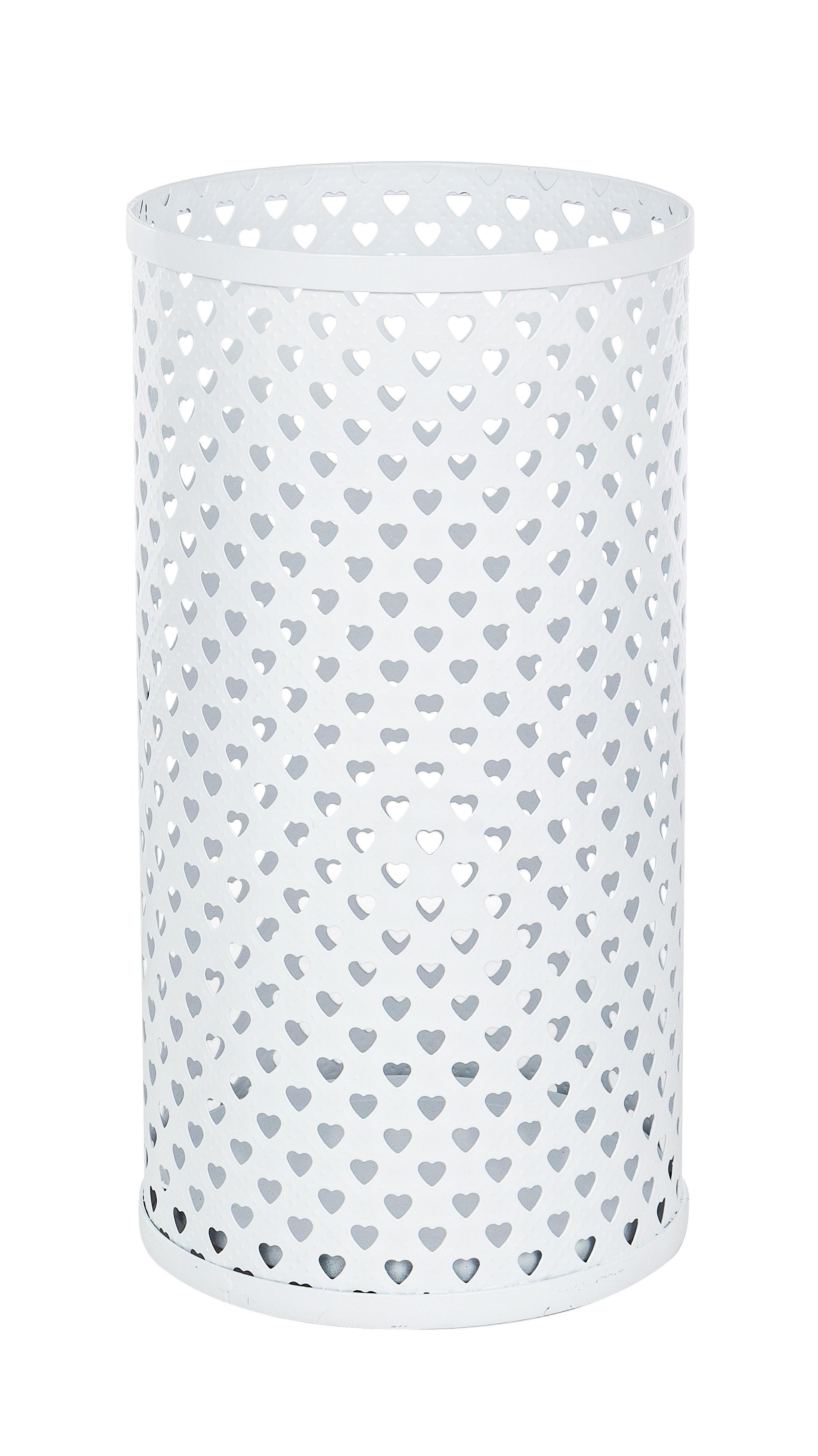 Suport metalic pentru umbrele, Heart Alb, Ø24xH45 cm imagine