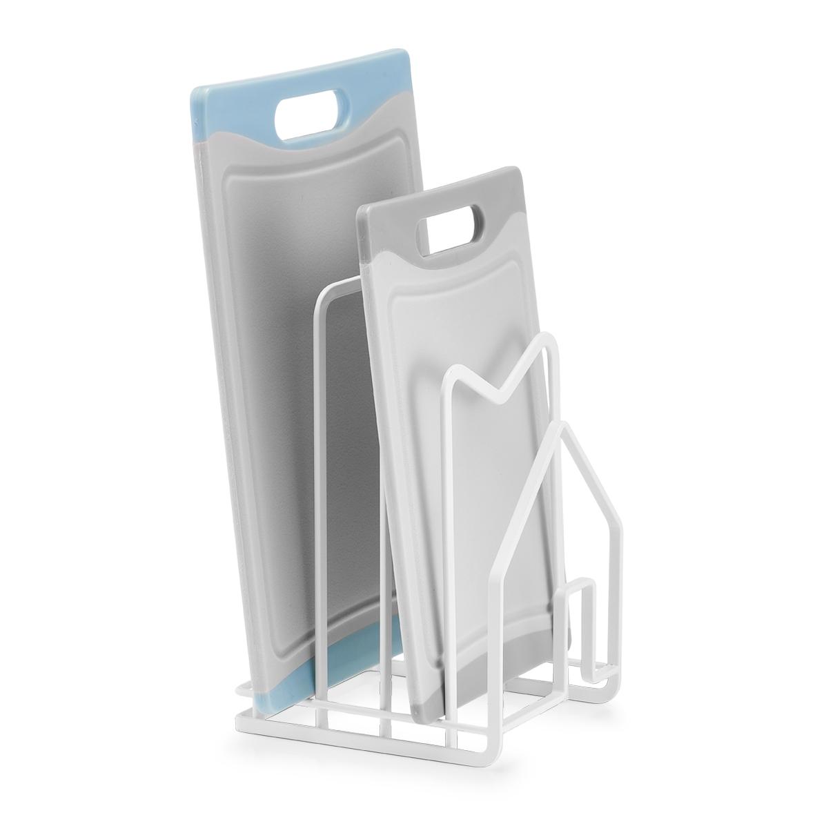 Suport metalic pentru vesela si accesorii, Drain Alb, L14,5xl12xH21,5 cm imagine