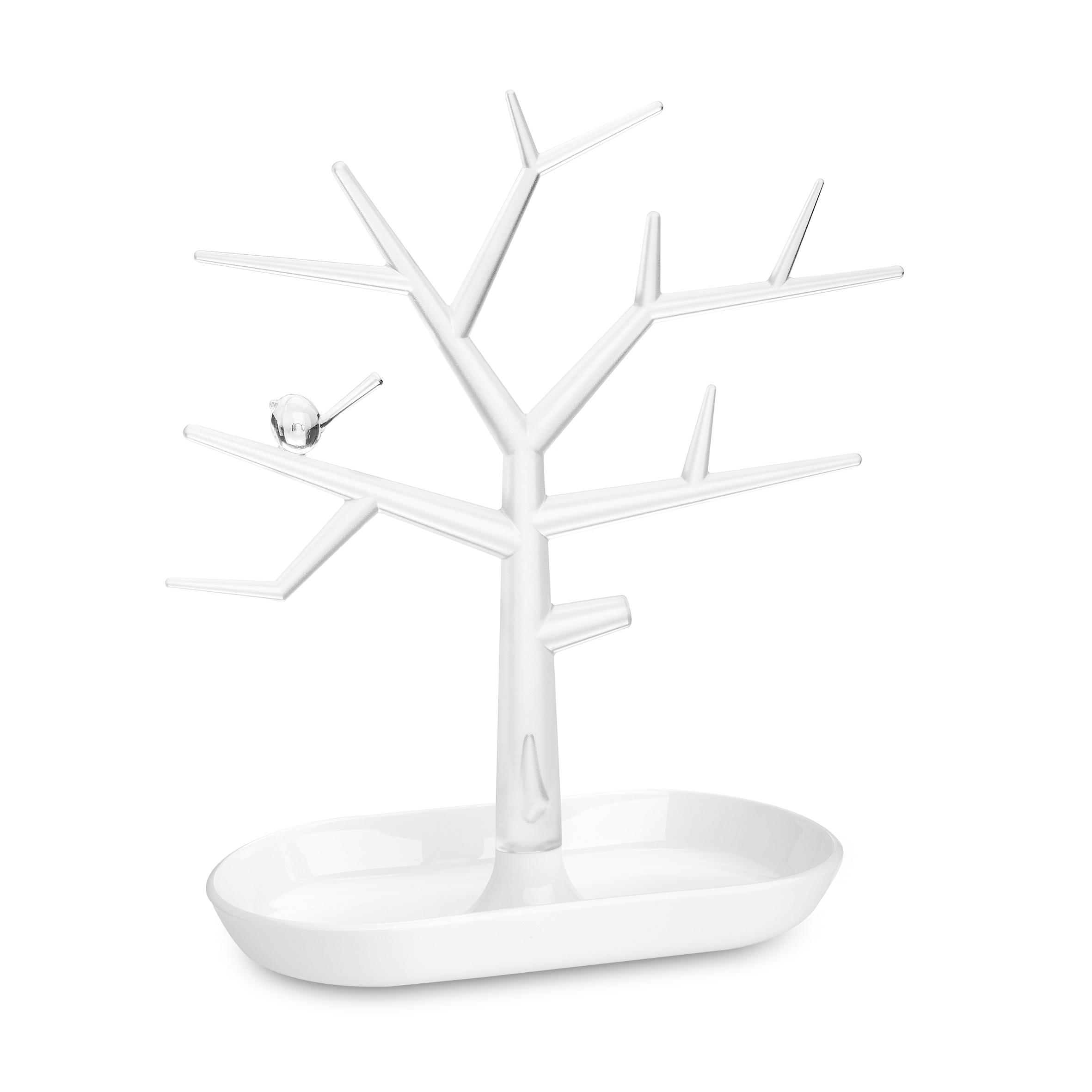 Suport pentru bijuterii din termoplastic Trinket Tree Alb, l27,3xA12,8xH30,6 cm