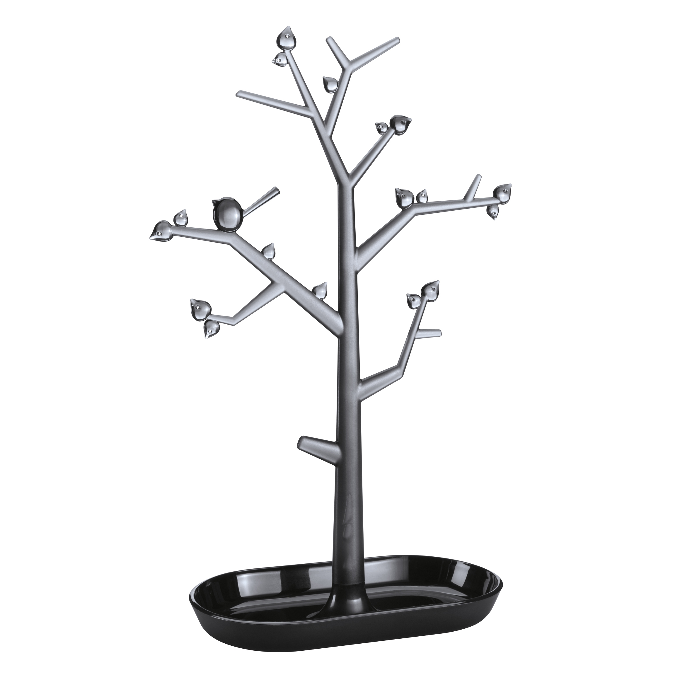 Suport pentru bijuterii din termoplastic Trinket Tree II Negru, l27,6xA12,8xH43,8 cm imagine