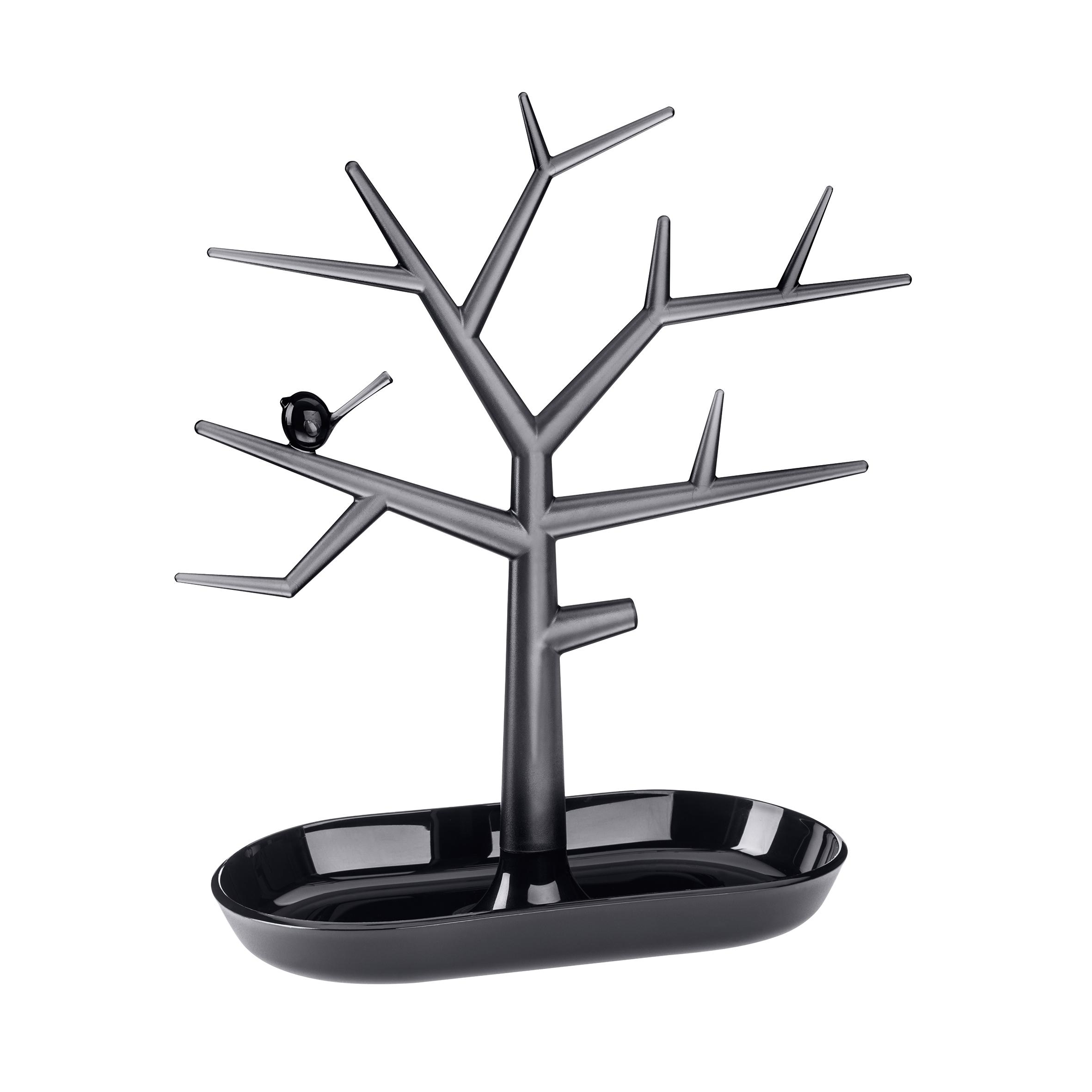 Suport pentru bijuterii din termoplastic Trinket Tree Negru, l27,3xA12,8xH30,6 cm