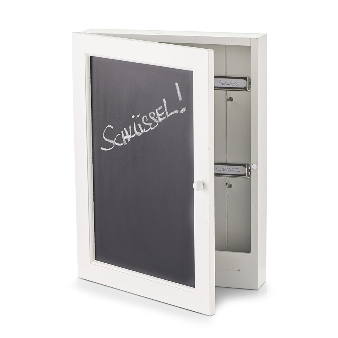 Suport pentru chei Blackboard, MDF White, l22xA5xH30 cm poza