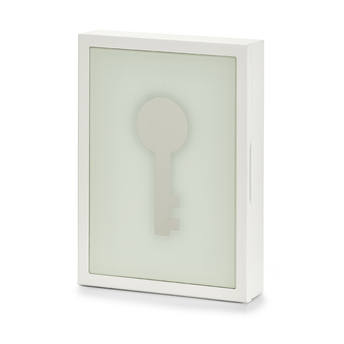 Suport pentru chei MDF Glass White l22xA5xH30 cm
