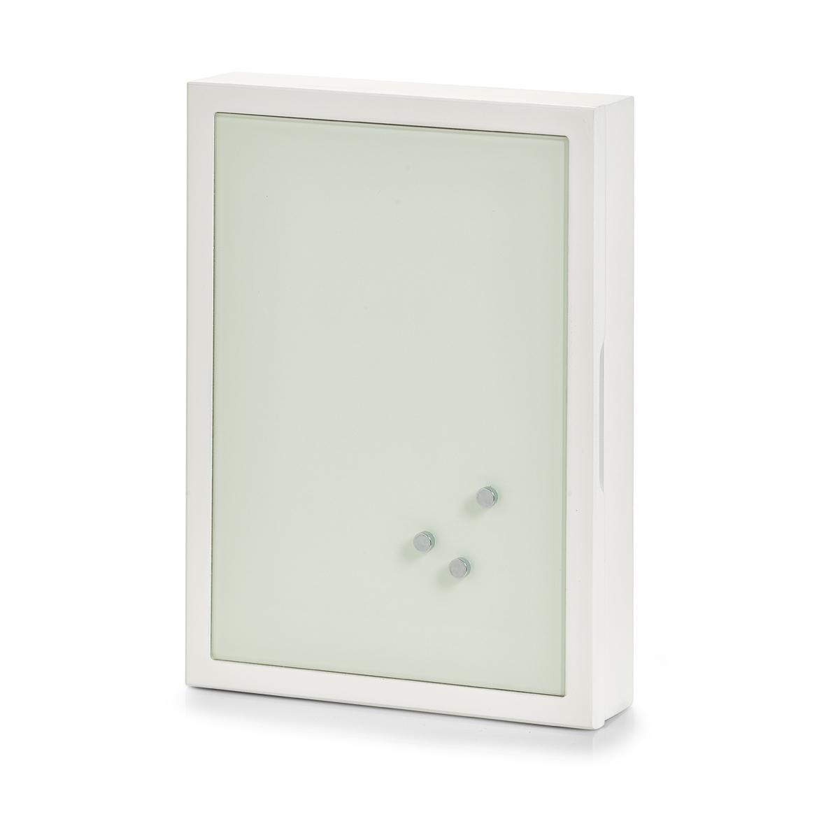 Suport pentru chei Memo Glass MDF White l22xA5xH30 cm