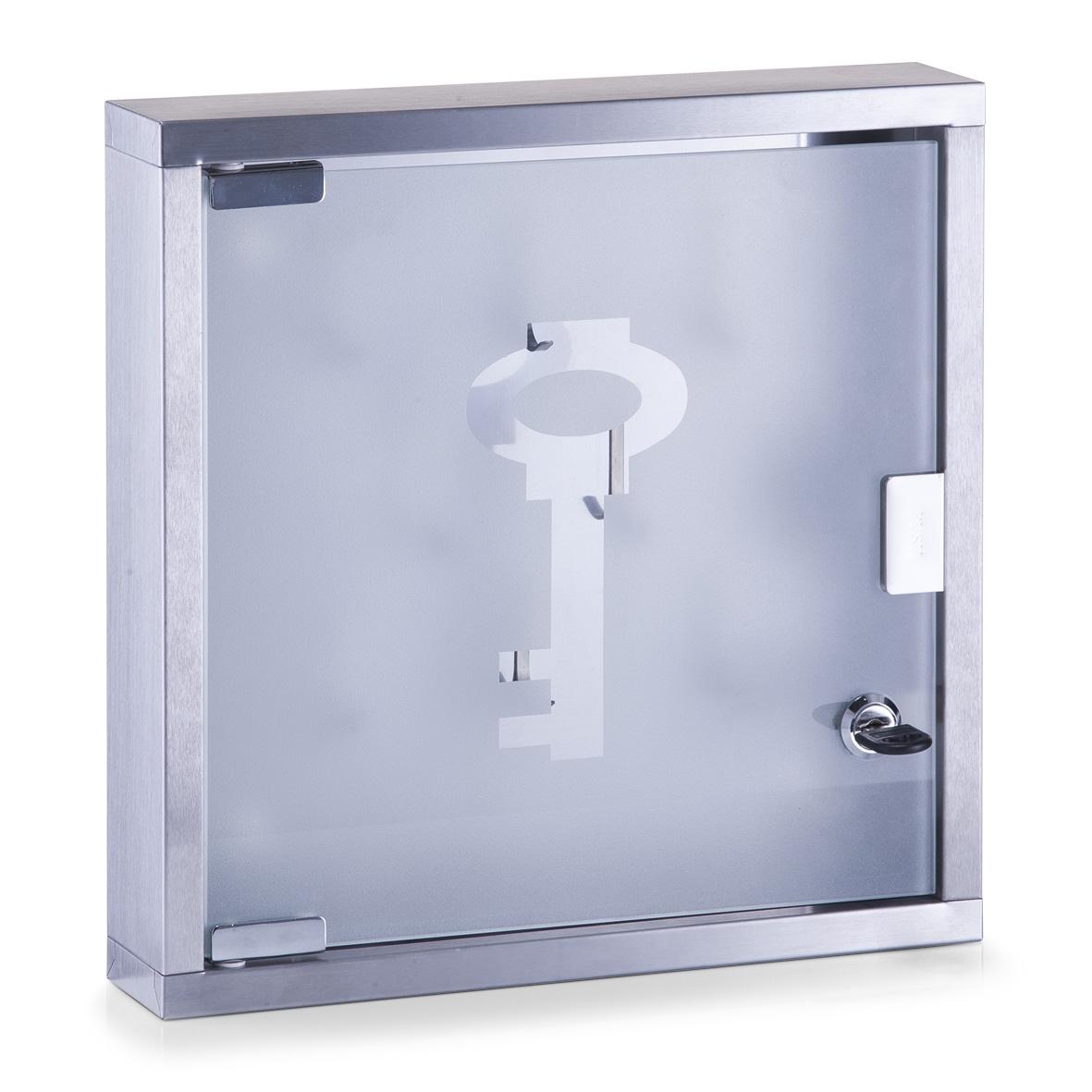 Suport pentru chei Office II, Otel inoxidabil, l30xA6xH30 cm imagine