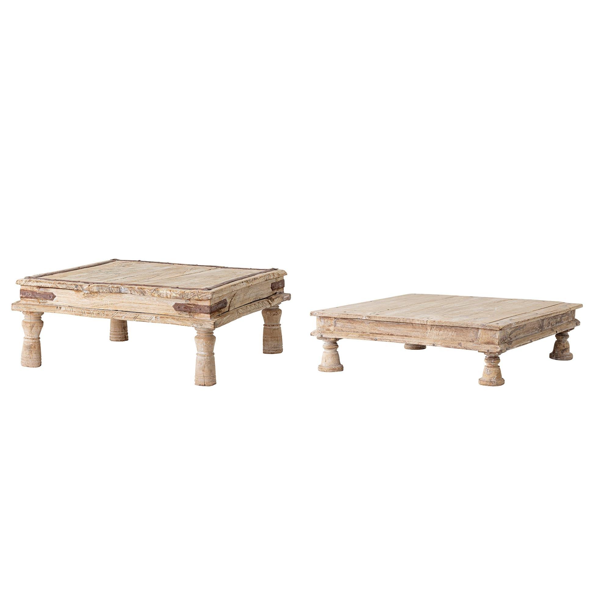 Suport pentru ghiveci din lemn, Fahim Natural, Modele Asortate, l50xA50xH20 cm poza
