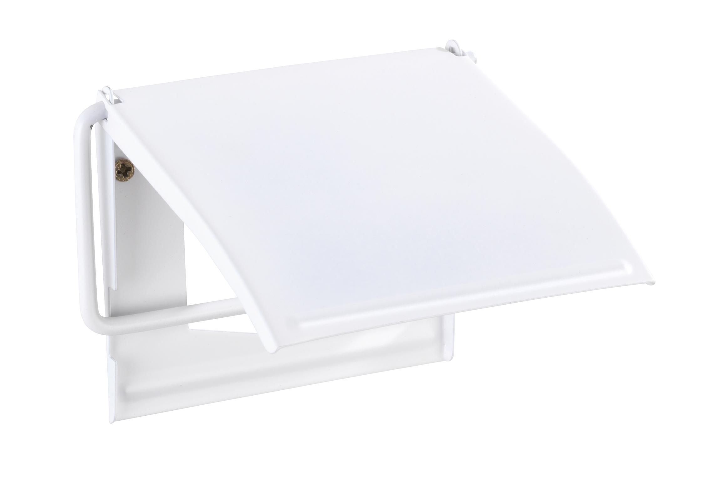 Suport pentru hartie igienica, Cover Alb, l13,5xA2,5xH12 cm
