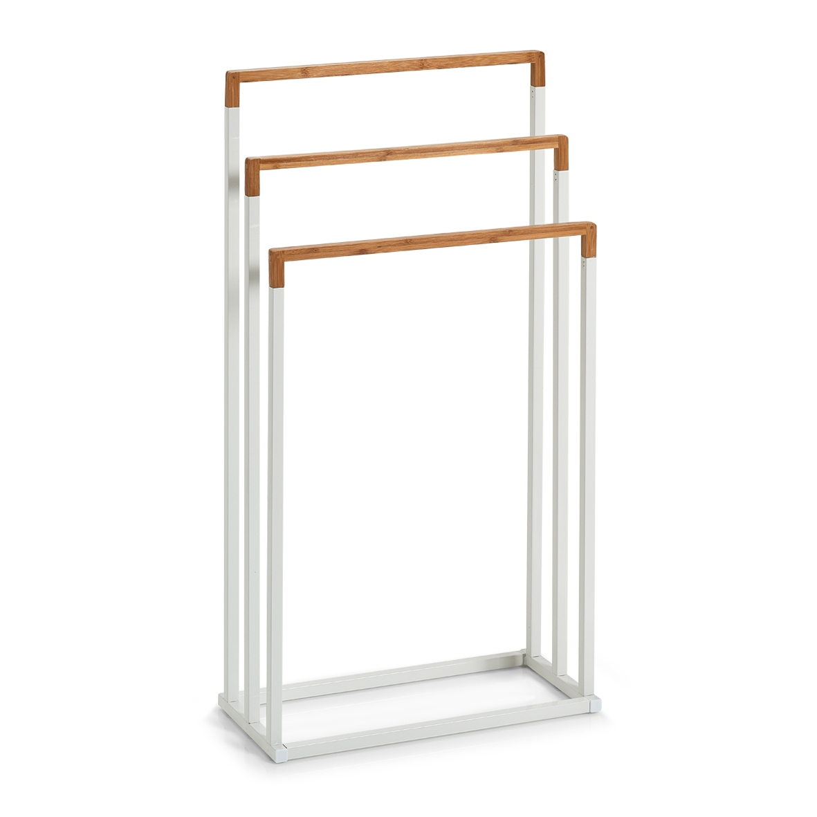 Suport pentru prosoape de baie, Bamboo Metal White, l45xA21,5xH84,5 cm