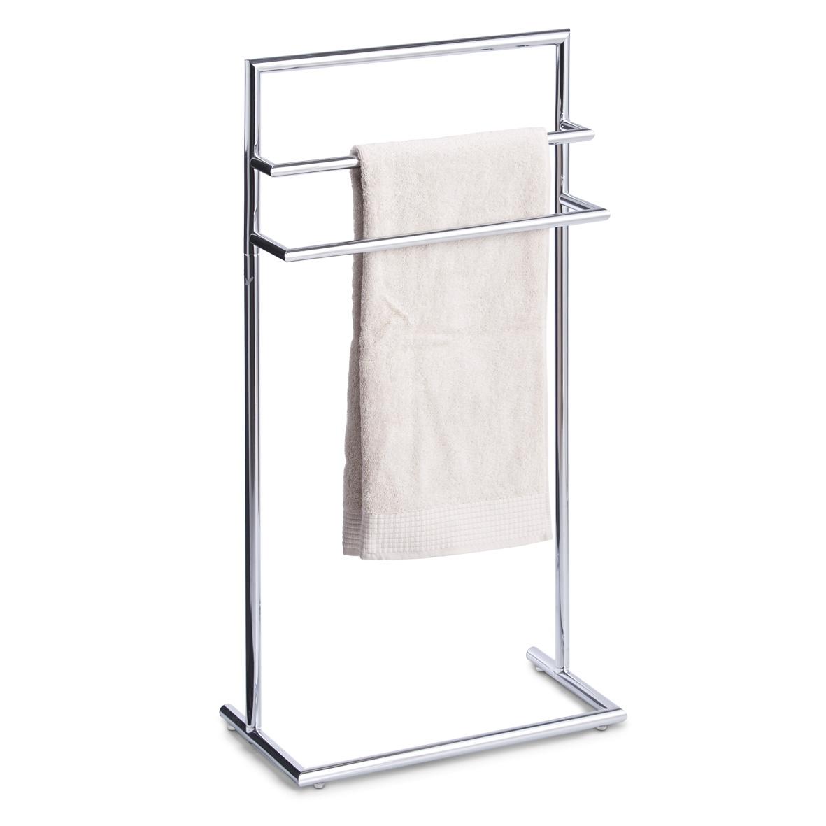 Suport pentru prosoape de baie, Metal Cromat, l43,5xA23xH83 cm imagine