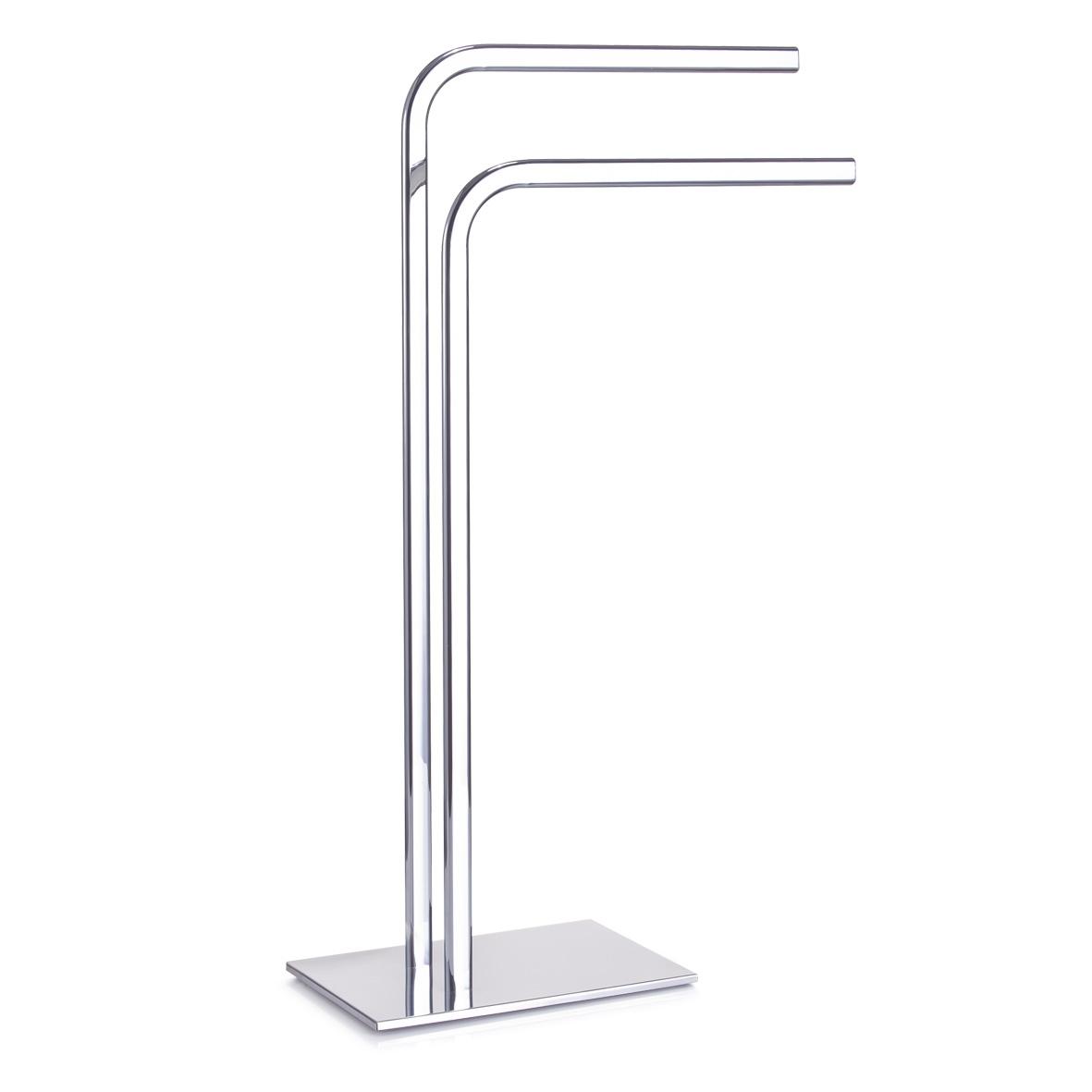 Suport pentru prosoape de baie, Metal Cromat, l48,5xA20xH80,5 cm