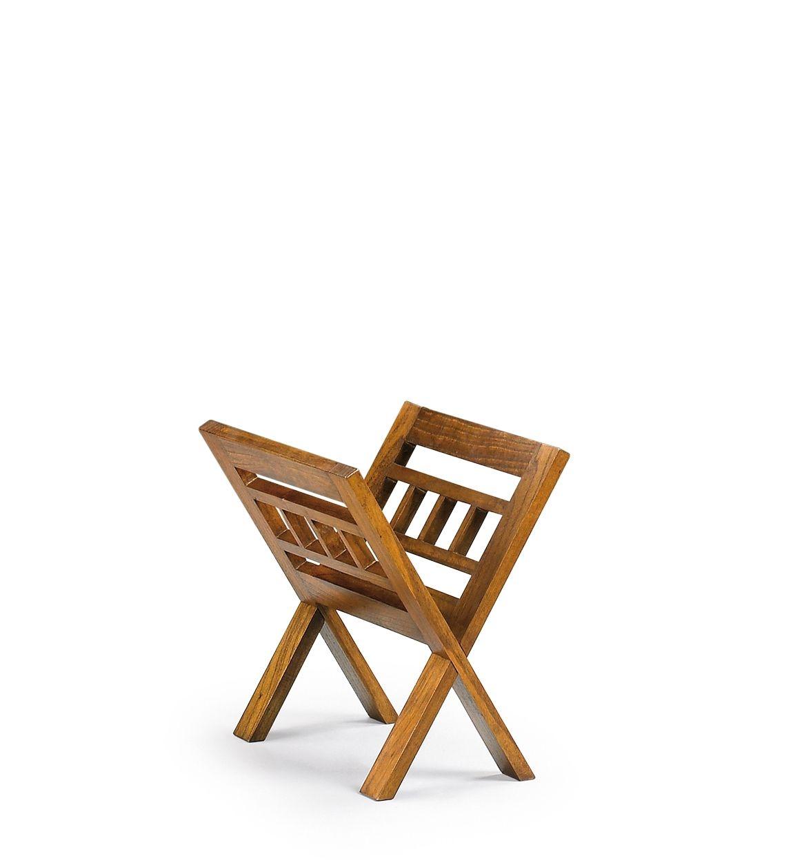 Suport pentru reviste din lemn, Star Nuc, l30xA40xH40 cm imagine