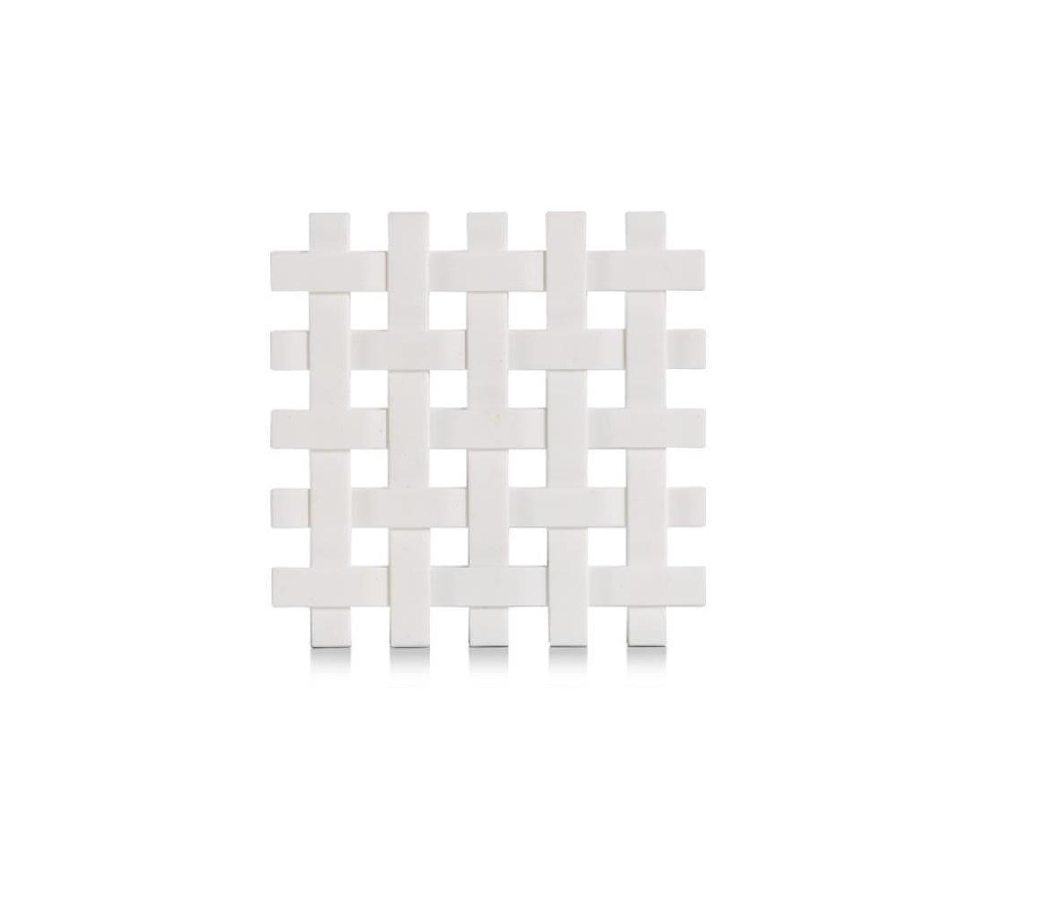 Suport pentru vesela, din plastic Trivet Alb, L17,2xl17,2 cm