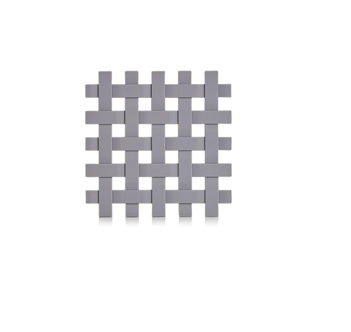 Suport pentru vesela, din plastic Trivet Gri, L17,2xl17,2 cm imagine 2021