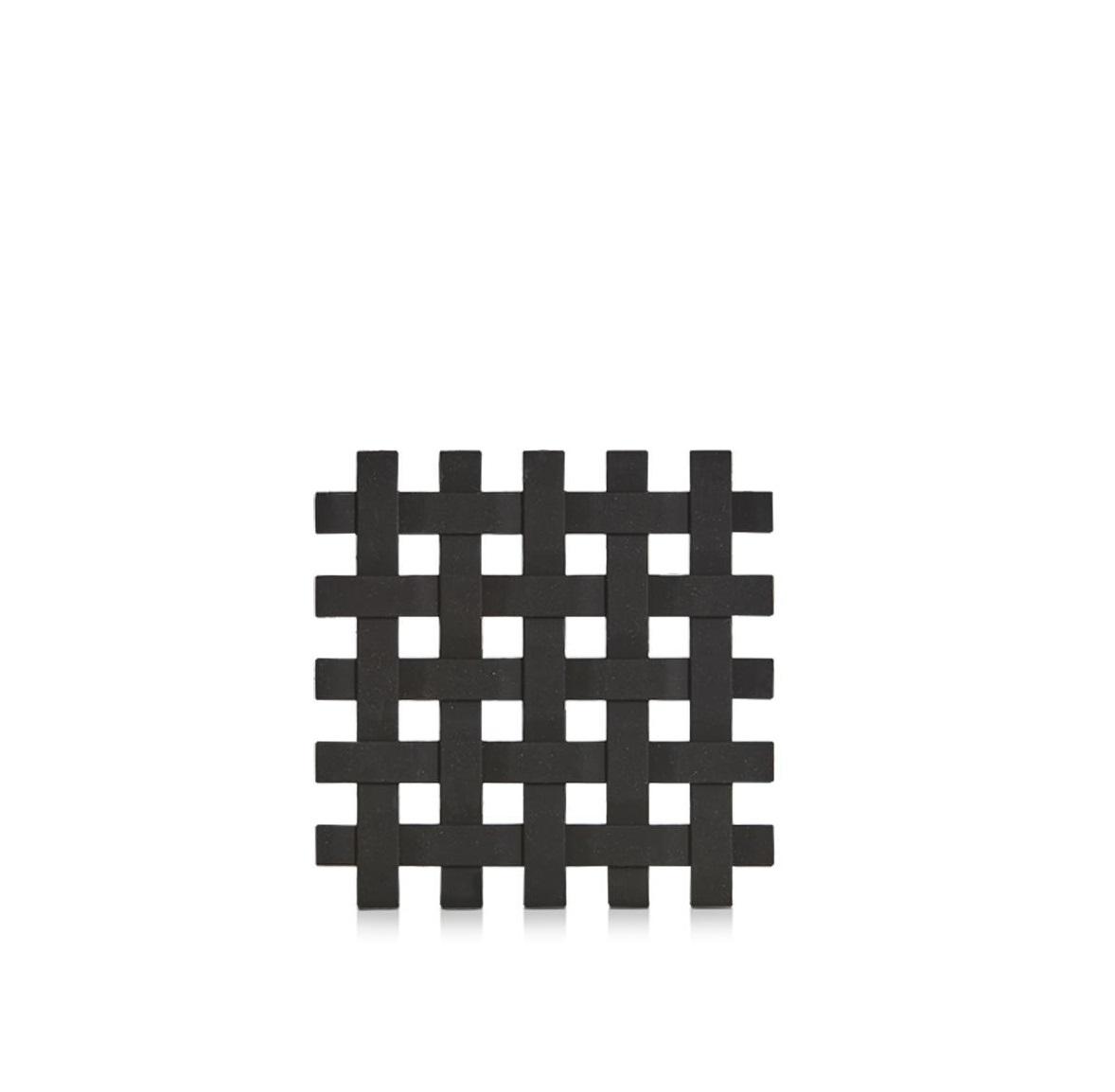 Suport pentru vesela, din plastic Trivet Negru, L17,2xl17,2 cm