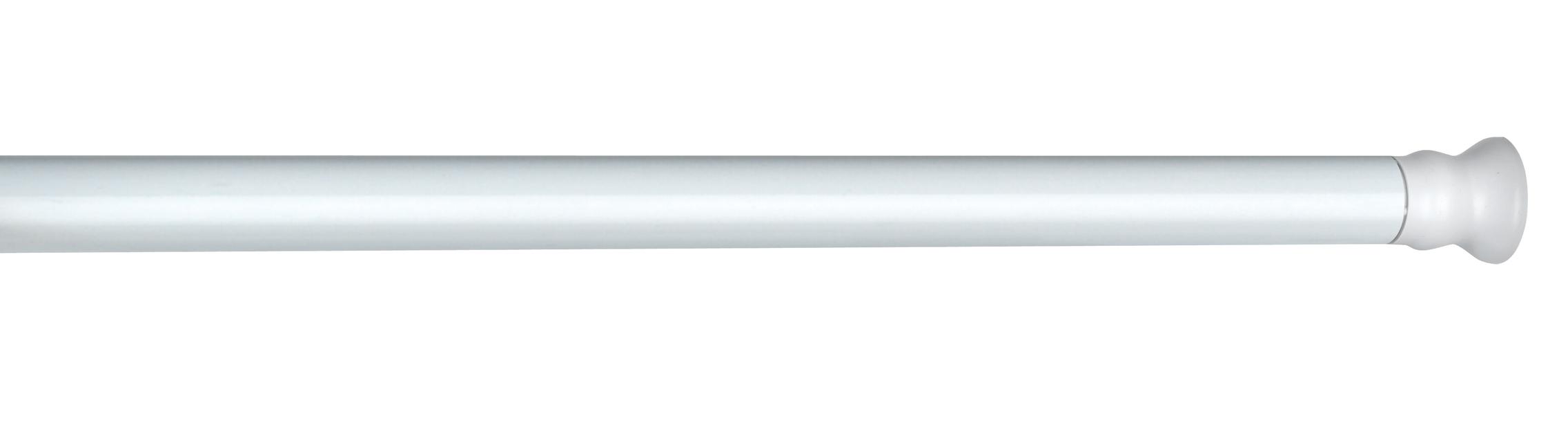 Suport telescopic pentru perdea dus, din aluminiu, Angle Medium Alb, Ø2,8 cm, L110-185 cm imagine