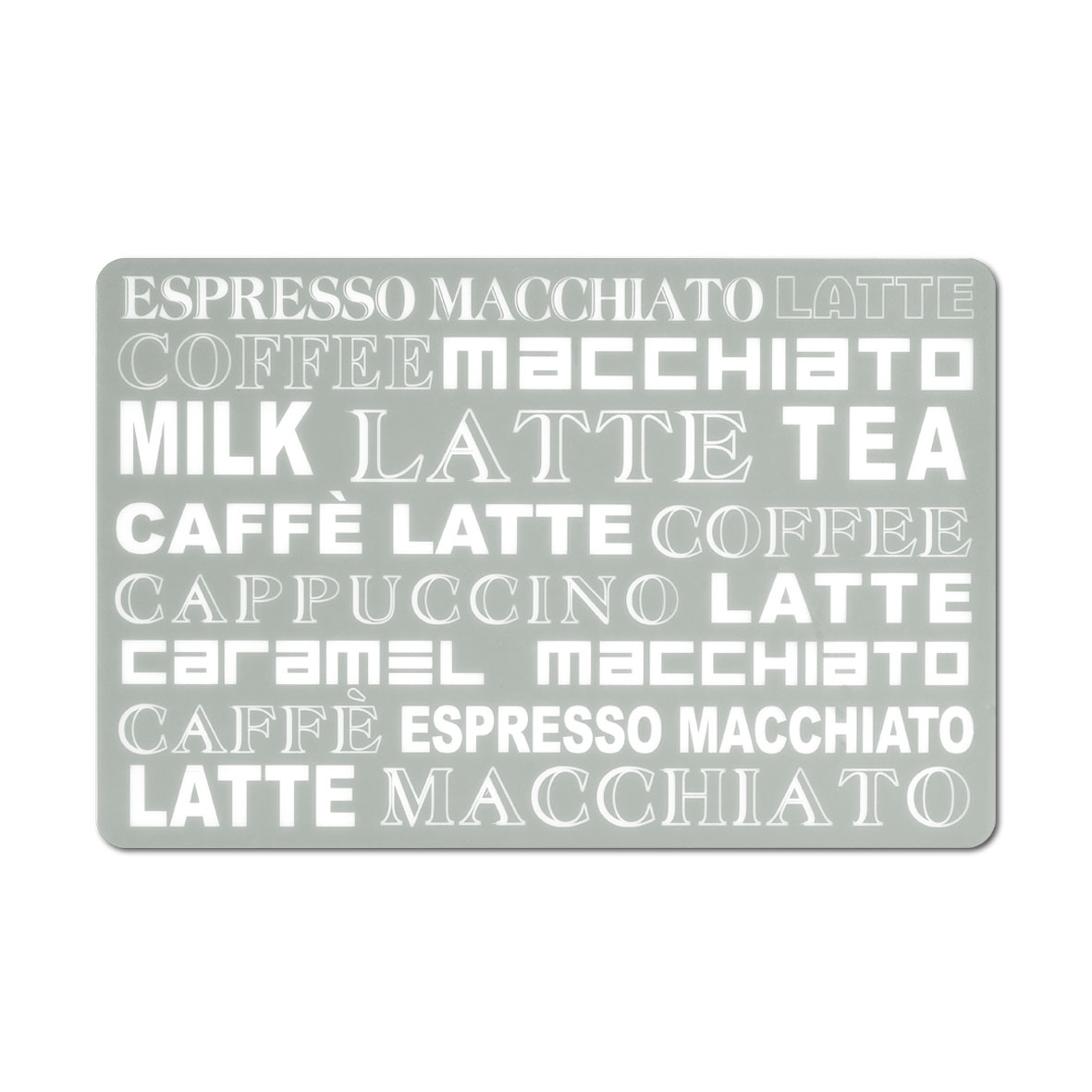 Suport vesela din PP (polipropilena), Latte Macchiato Grej, L43,5xl28,5 cm imagine