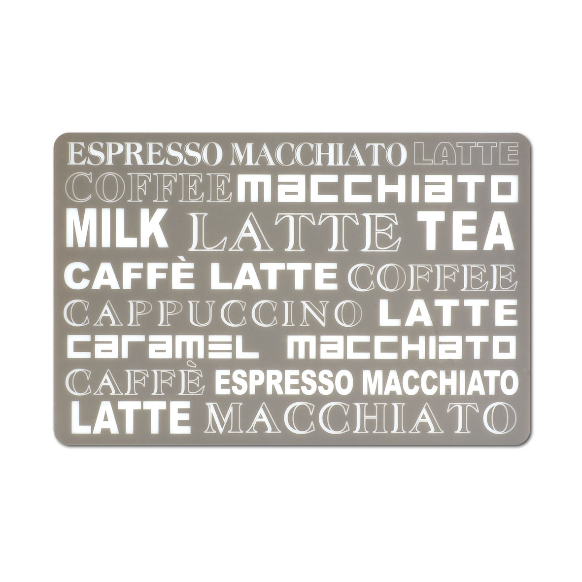 Suport vesela din PP (polipropilena), Latte Macchiato Mocca, L43,5xl28,5 cm imagine