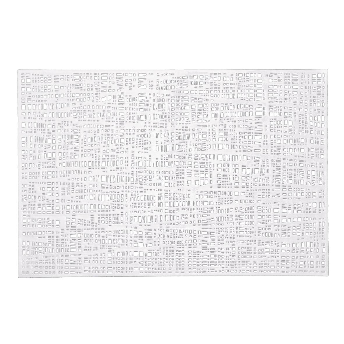 Suport vesela din PVC, Placemat Alb, L45xl30 cm