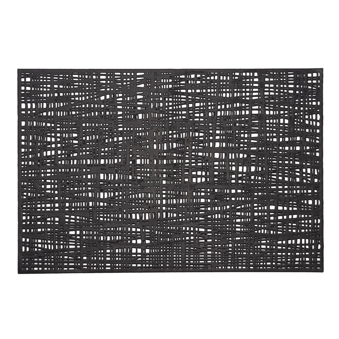 Suport vesela din PVC, Placemat Negru, L45xl30 cm imagine