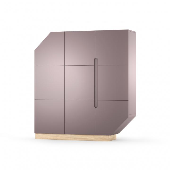 Cabinet Nook Large Oak Violet/Natural, L137xl39xh152 cm