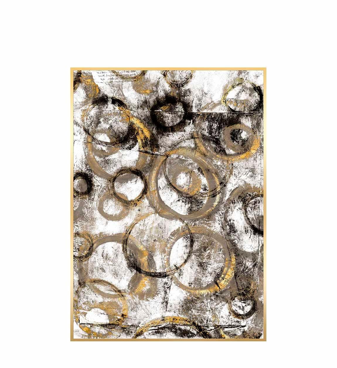 Tablou Canvas Creta Golden Circles, 60 x 90 cm imagine