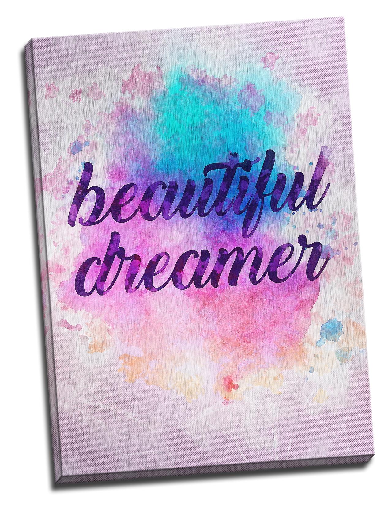 Tablou din aluminiu striat Beautiful Dreamer