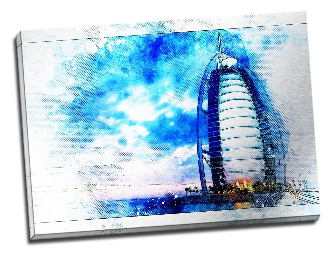 Tablou din aluminiu striat Burj-Al-Arab