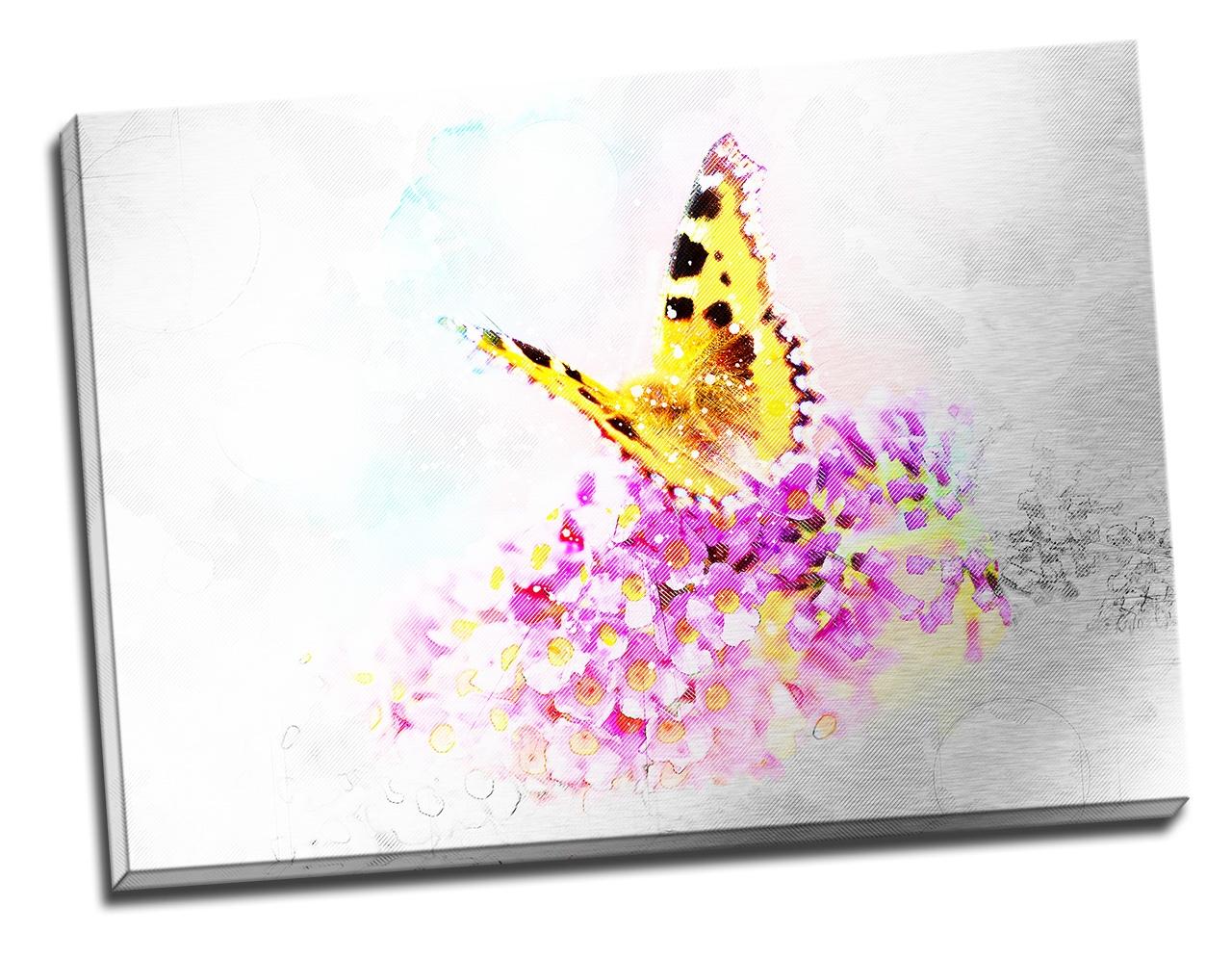 Tablou din aluminiu striat Butterfly of Joy