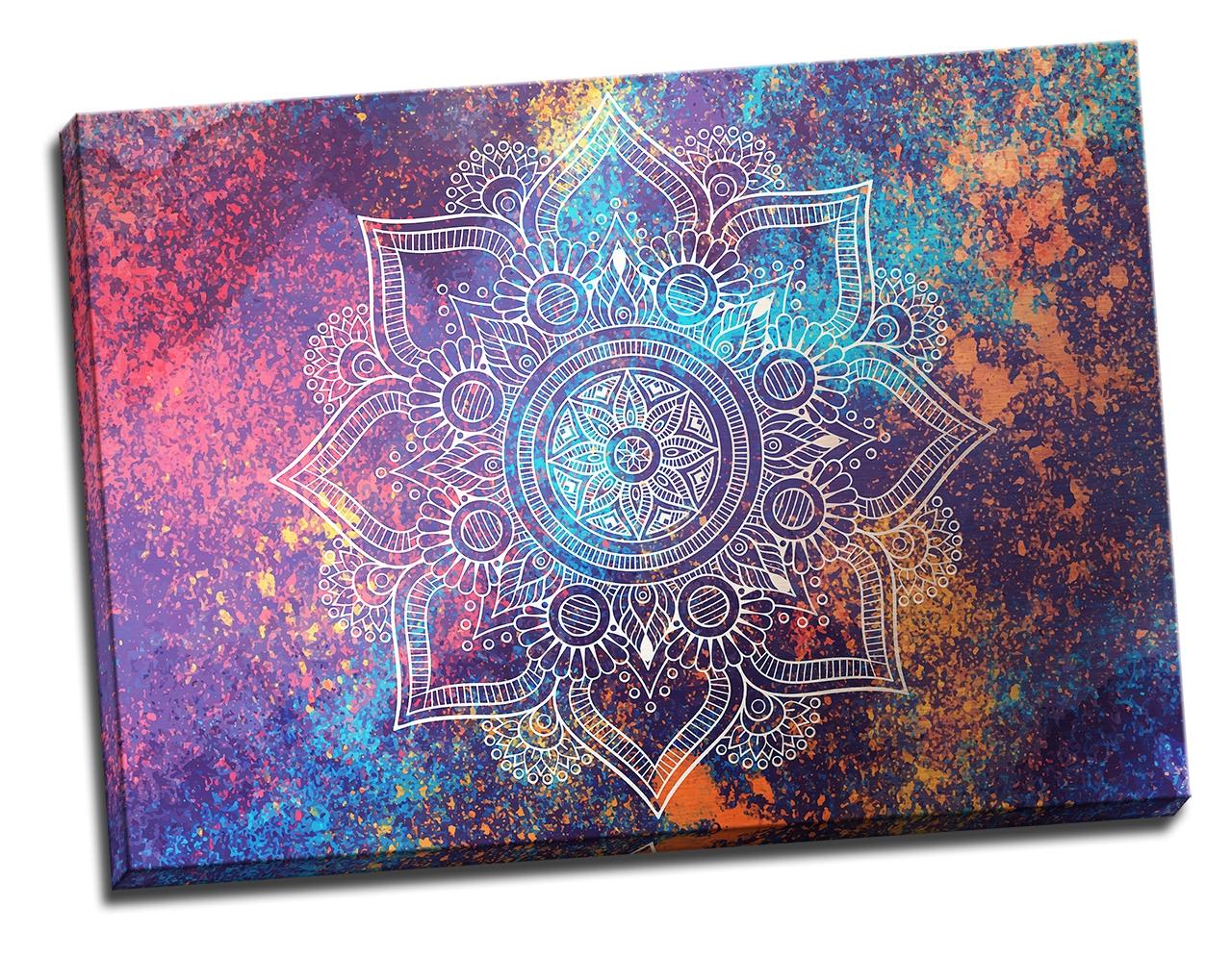 Tablou din aluminiu striat Cosmic Mandala